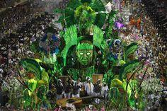 The Mangueira samba school parades during carnival celebrations at the Sambadrome in Rio de Janeiro, Brazil, on February (AP Photo/Victor R. Samba, Beginning Of Lent, Palm Beach Post, Visit Brazil, Brazil Carnival, Find Hotels, Garden Art, Cool Photos, Amazing Photos