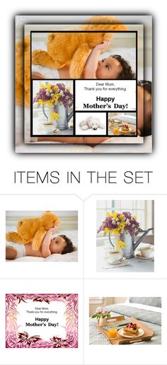 """""""Fantastic BEAR MothersDay 😉😊🌹"""" by sabine-promote ❤ liked on Polyvore featuring art"""