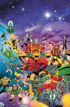 Jack Kirby& Fourth World Jack Kirby, Arte Dc Comics, Marvel Comics, Marvel Dc, Comic Books Art, Comic Art, Book Art, Dragon Ball Z, Female Furies