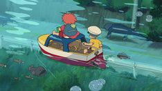 Screencap Gallery for Ponyo Bluray, Studio Ghibli). The son of a sailor, old Sosuke lives a quiet life on an oceanside cliff with his mother Lisa. Studio Ghibli Art, Studio Ghibli Movies, Hayao Miyazaki, Japanese Cartoon, Howls Moving Castle, Film Studio, Animation Film, Studios, Kawaii
