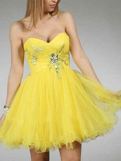 Prom Dresses 2016 by Dmsdress. Shop a classy prom dress for and online formal dresses, short or long homecoming dresses for other special occasions. Yellow Homecoming Dresses, Classy Prom Dresses, Prom Dresses 2016, Sexy Dresses, Strapless Dress Formal, Bridesmaid Dresses, Dress Prom, Bridesmaids, Sweet Sixteen Dresses