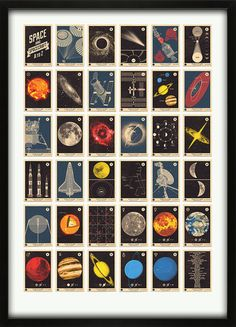 Space and Spacecraft A to Z Alphabet print - 67 Inc - 67 Inc