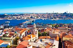 Istanbul, Turkey. Not only is Turkey spit between Europe and Asia, so is the city of Istanbul!