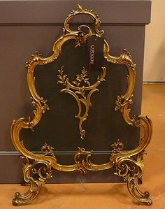 Antique French Fireplace Screen