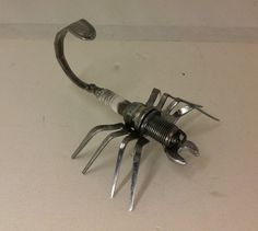 Recycled Spark Plug and Cutlery Scorpion by TheMetalGuyCanberra