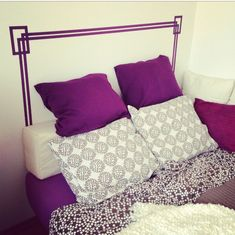 DIY Pinspo: Washi Tape Headboard