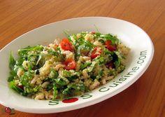 Recette - Salade de quinoa, crevettes et roquette   SOS Cuisine