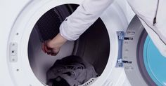 Throw a couple of ice cubes in the dryer with that wrinkled shirt and watch the wrinkles disappear.