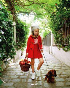 """Caperucita Roja: Foto """"Vogue enfants"""""""