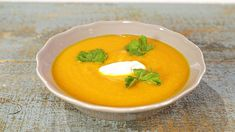 Immune-Boosting Carrot Soup Recipe by Daphne Oz - The Chew The Chew Recipes, Other Recipes, Cooking Recipes, Recipes For Soups And Stews, Soup Recipes, Paleo Recipes, Chicken Salad Calories, Carrot Soup Easy, The Chew Tv Show