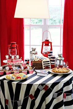 Food table Nautical birthday