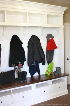 cubby detail drawer in cubby #mudroom #builtin