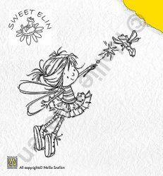 SWE003 (Flying Frog) - Stamp Sweet Elin - Nellie Snellen