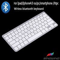 awesome New Wireless Ultrathin Bluetooth Keyboard For Apple iPad1/2/3 iPhone 4/4S White one day shipping from USA
