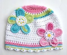 colorful crochet hat