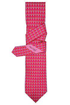 #Corbata #Slim Pavo Real Rosa. #Diseño #Estilo #México #PinedaCovalin #Tie