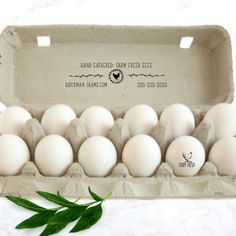 Egg Carton Labels Stamp - Chicken Gifts - Fresh Eggs Carton - Chicken Egg - Farm Name Stamp - Chicken Coop Gift Accessory Hand Gathered by SouthernPaperAndInk on Etsy Chicken Coop Decor, Chicken Coop Signs, Backyard Chicken Coops, Building A Chicken Coop, Backyard Farming, Chickens Backyard, Farm Chicken, Backyard Ideas, Best Egg Laying Chickens