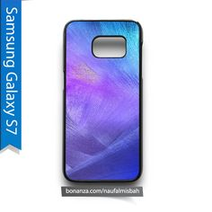 Brush Blue Pattern Samsung Galaxy S7 Case Cover