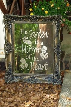 Victorians put mirrors in their gardens to reflect the flowers and make it look like MORE.