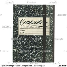 Shop Stylsih Vintage School Composition Book iPad Air Cover created by camcguire. Personalize it with photos & text or purchase as is! Ipad Mini Cases, Ipad Air Case, Composition Notebook Covers, Kawaii Accessories, Tech Accessories, Customizable Gifts, Vintage School, Ipad Sleeve, Edge Design