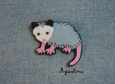 opossum brooch | by agustina