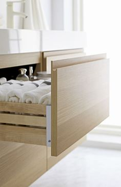 Stress levels diminish when every little thing has a place inside closed drawers.