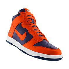 Custom Nike Dunk High (NFL Denver Broncos) iD Shoe Denver Broncos Shoes 08124da4b2bd
