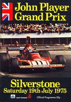 British Grand Prix 1975 Silverstone programme + lap chart | eBay