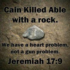 We have a heart problem, not a gun problem...