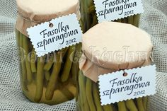 Fasolka szparagowa w słoikach | Domi w kuchni Stuffed Mushrooms, Good Food, Place Card Holders, Vegetables, Stuff Mushrooms, Vegetable Recipes, Healthy Food, Veggies, Yummy Food