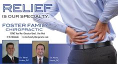Your back is our business! Natural Healthcare for the Entire Family! Foster Family Chiropractic - 419-238-6686. #FFC pic.twitter.com/QfyPVB4DkT