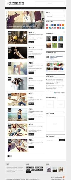 KORESPONSIVE is a free theme for WordPress with a fully responsive design. Like us and Download Free Themes made in Kore