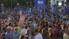 Cerca de 20.000 griegos acuden al acto de campaña a favor del 'sí' en el referéndum