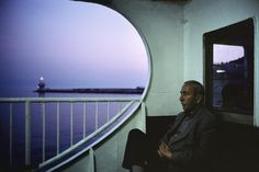 TURKEY. Istanbul. 2001. On board a ferry at dusk near the Princess Islands