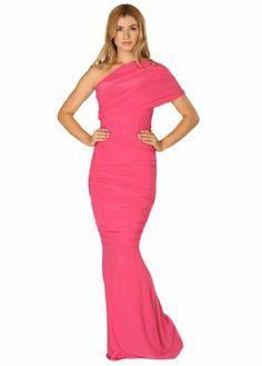 18aa2173c13b Honor Gold Alicia One Shoulder Pink Maxi Dress Pink Maxi
