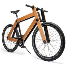 """Sandwichbike"" flat-pack wooden bicycle by PedalFactory. Minimal and beautiful. (http://www.dezeen.com/2013/11/28/sandwichbike-flat-pack-wooden-bicycle-by-pedalfactory-goes-into-production/)"