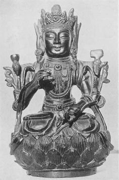 """""""One of the two oldest known bronzes in the world. It is a symbolical figure of Mu as the mistress and ruler of the whole earth. It was made in either Mu or in the Uighur Capital City over 18,000 years ago.""""   Courtesy of George N. Leiper"""