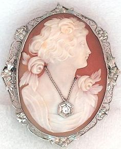 14K WG cameo pin/pendant http://www.grannysjewelrybox.com/si434.shtml