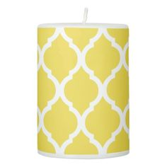 Classic pattern pillar candle - classic gifts gift ideas diy custom unique