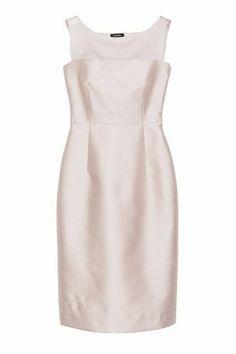 Abito aderente di piqué e organza rosa pallido Max and Co. | Abiti eleganti da cerimonia 2014 #clothing #fashionable