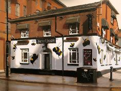 """Union of the Bee, Manchester by Michael John Ashcroft Oil ~ 8"""" x 10"""""""