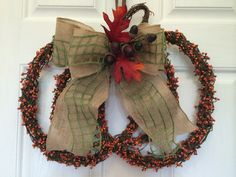 Fall wreath Grapevine pumpkin wreath by ShellysChicDesigns on Etsy, $48.00