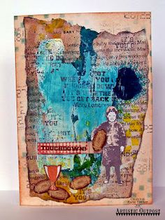 Artistic Outpost: Go Team Mixed Media Card by Kate's Scrap Yard