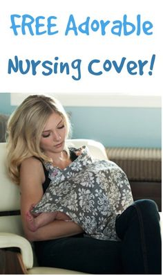 FREE Adorable Nursing Cover!  {just pay s/h} ~ these make great Baby Shower gifts, too! #thefrugalgirls