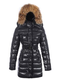 fdbb518d88f France Moncler Armoise Coat For Women Black Long Outlet
