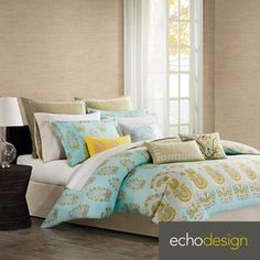 Paros Paisley 4-piece Comforter Set with Optional Euro Sham Sold Separately | Overstock.com Shopping - Great Deals on Echo Comforter Sets