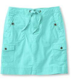 Ripstop Cargo Drawstring Skirt | Free Shipping at L.L.Bean