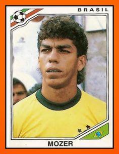 Mozer of Brazil. 1986 World Cup Finals card.