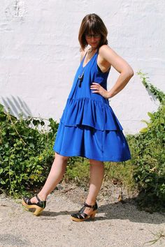 Swingy Cobalt Tank Dress