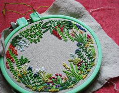 a tiny garden with tiny flowers by misslilamae on Flickr.